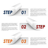 Set of colorful sample steps stickers template Stock Photos