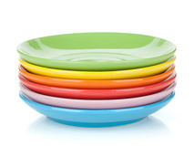 Set of colorful saucers Stock Images