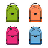 Set of colorful school rucksacks. Stock Photos