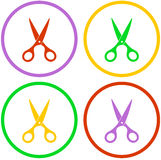 Set colorful  scissors Royalty Free Stock Image