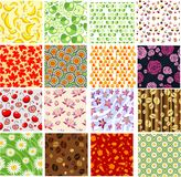 Set of colorful seamless backgrounds Royalty Free Stock Image