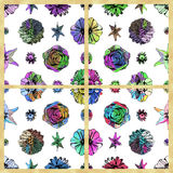 Set of colorful seamless floral patterns Royalty Free Stock Photography
