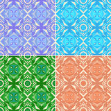 Set of colorful seamless geometric patterns. Traditional. stock photos