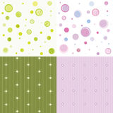 Set of colorful seamless pattern Royalty Free Stock Image