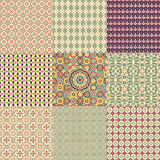 Set of colorful seamless pattern. Royalty Free Stock Photography