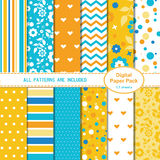 Set of 12 colorful seamless patterns Stock Photos