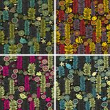 Set of colorful seamless patterns. Set of colorful seamless patterns with flowers Royalty Free Stock Photos