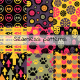 Set of colorful seamless patterns Royalty Free Stock Images