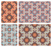 Set of colorful seamless patterns in oriental style Royalty Free Stock Images