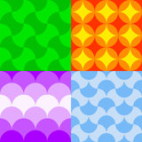 Set of colorful seamless patterns Royalty Free Stock Image