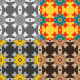 Set colorful seamless vector pattern Royalty Free Stock Image