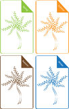 Set of color seasonal trees Royalty Free Stock Image