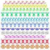 Set of Colorful sewing stitch on a white Royalty Free Stock Photos