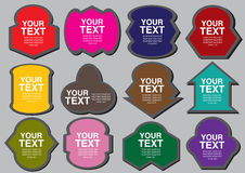 A set of colorful shapes cutout Stock Photo