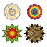 Set of 4 colorful shapes Royalty Free Stock Image