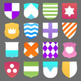 Set of colorful shields Royalty Free Stock Images