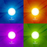 Set of colorful shiny design templates Stock Photography
