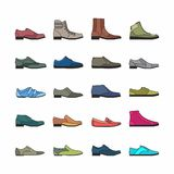 Shoes Vector Icons Royalty Free Stock Images
