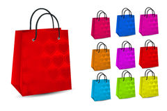 Set of colorful shopping bags Stock Image