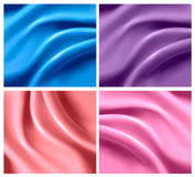 Set of colorful silk backgrounds. Vector Royalty Free Stock Photo