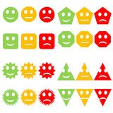 Set of colorful smileys Royalty Free Stock Image