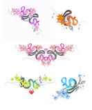 Set of colorful snakes Stock Photo