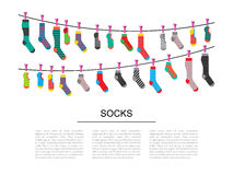 Set colorful socks Royalty Free Stock Images