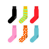 Set colorful socks. Vector illustration accessories clothing Stock Photo