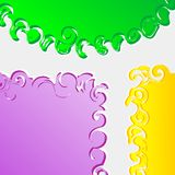 Set of colorful speech bubble background Stock Image