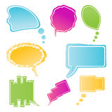 Set of colorful speech bubbles Stock Photos