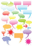 Set of colorful speech bubbles Royalty Free Stock Photography