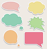 Set of Colorful Speech Bubbles. Or Clouds Stock Illustration