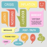 Set of colorful speech bubbles collection. royalty free illustration