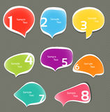 Set of colorful speech bubbles Stock Photography