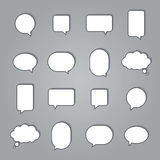 Set of colorful speech bubbles Royalty Free Stock Images