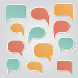 Set of colorful speech bubbles Stock Images