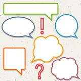 Set of colorful speech bubbles, frames. For you design Royalty Free Stock Photography