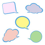 Set of colorful speech bubbles. Stock Photography