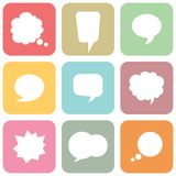 Set of colorful speech bubbles Royalty Free Stock Photos