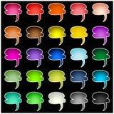 Set of colorful speech bubbles Stock Photo