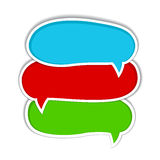 Set of colorful speech bubbles Royalty Free Stock Image