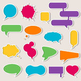 Set of colorful speech bubbles with shadows. Blank empty speech bubbles for infographics vector illustration Royalty Free Stock Photos