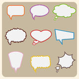Set of colorful speech bubbles. Vector Stock Photography