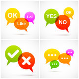 Set of colorful speech bubbles. Vector illustration Eps 10 royalty free illustration