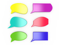 Set of colorful speech bubbles. On white, 3D Stock Photos