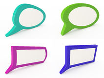 Set of colorful speech bubbles. On white, 3D Stock Photography