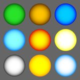 Set of colorful spheres isolated on gray background. Vector illustration for your design, game, card. royalty free illustration