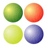 Set of Colorful Spheres. Isolated on White Background Vector Illustration