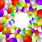 Set of Colorful Spheres. On White Background Royalty Free Stock Photo