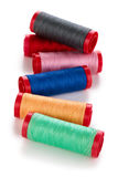 Set of colorful spools. Royalty Free Stock Images